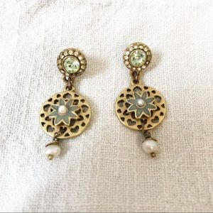 Pilgrim Gold Disc Earrings
